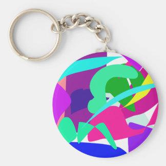 Water Basic Round Button Key Ring