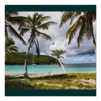 Water Beach Tropical Green Nature Name Personalize