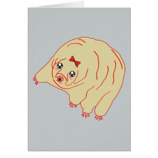 Water Bear Cute Anime Tardigrade Card