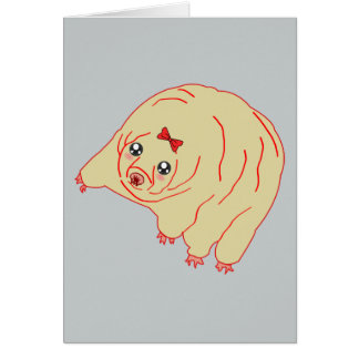 Water Bear Cute Anime Tardigrade Greeting Card