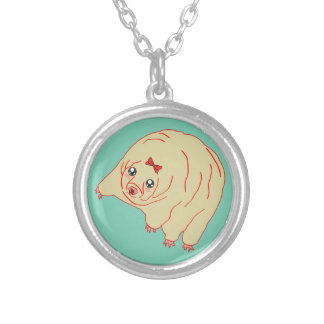 Water Bear Cute Anime Tardigrade Silver Plated Necklace