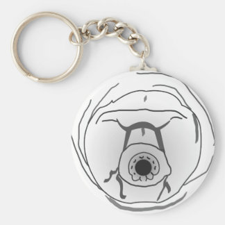 Water Bear Tardigrade Face Key Ring