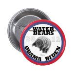 Water Bears for Obama/Biden 2012 Button
