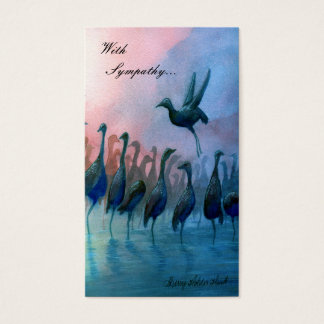Water Birds, With  Sympathy... - Customized Business Card