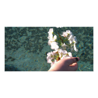 Water Blossoms Photo Card Template