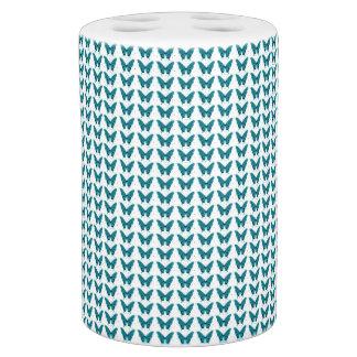Water-Blue-Butterflies-Botanical-Series-Bath-Decor Bathroom Set