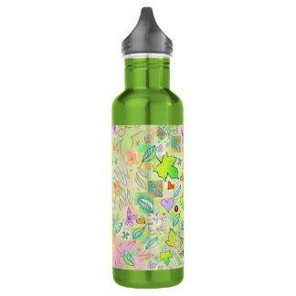 Water Bottle (710 ml), Green Natural Art Design