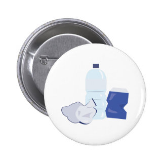 Water Bottle Pinback Buttons
