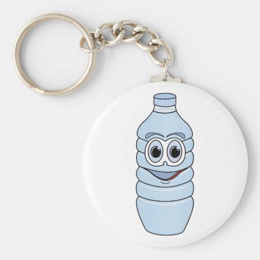 Water Bottle Cartoon Key Chain