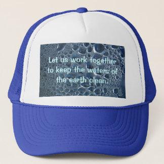 Water Bottle Condensation Trucker Hat