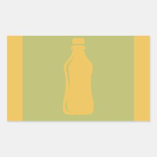 Water Bottle Hydrate Workout Graphic Rectangular Sticker