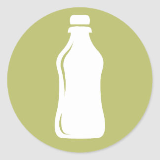 Water Bottle Hydrate Workout Graphic Round Sticker
