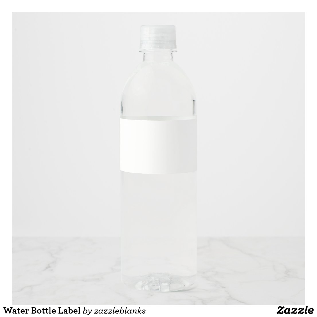 Water Bottle Label