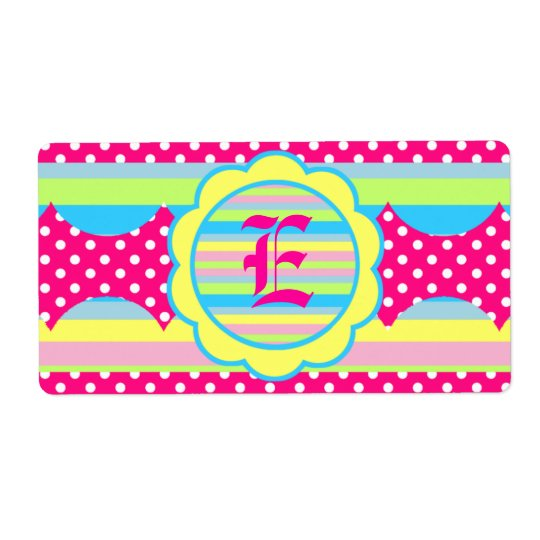 Water Bottle Label - Bright Stripes Shipping Label