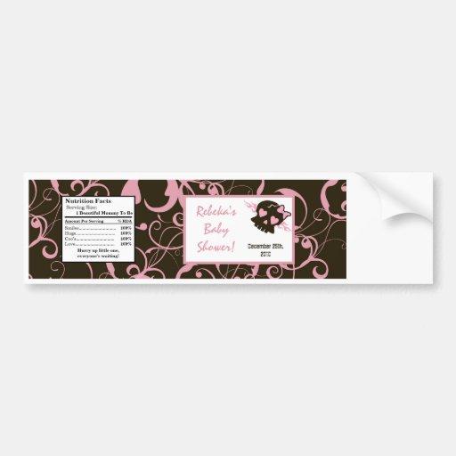 Water Bottle Label Girly Girl Pink Punk Rock Skull Bumper Sticker