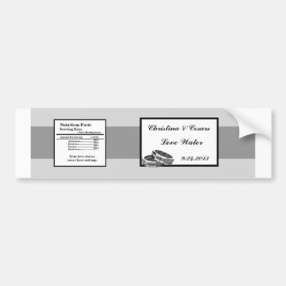 Water Bottle Label His/Hers Diamond Wedding Band R Bumper Sticker