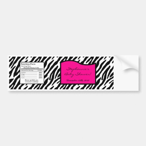 Free Printable Zebra Water Bottle Labels
