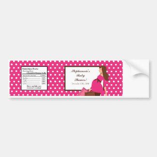 Water Bottle Label Pink Mod Mom Polka Dots Bumper Sticker