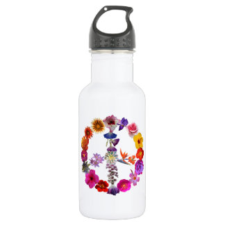 Water bottle peace sign of photographs of flowers 532 ml water bottle