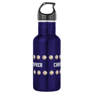 Water Bottle, Personalized, Baseball, Blue 532 Ml Water Bottle