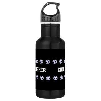Water Bottle, Personalized, Soccer Black & White 532 Ml Water Bottle