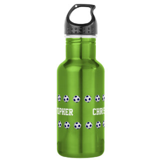 Water Bottle, Personalized, Soccer, Green 532 Ml Water Bottle