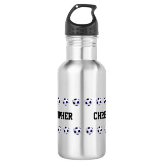 Water Bottle, Personalized, Soccer, Steel 532 Ml Water Bottle