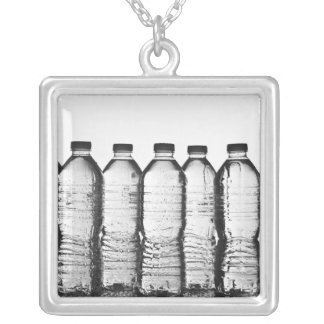 Water bottles in studio silver plated necklace