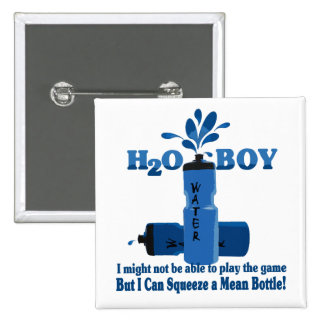 Water Boy 15 Cm Square Badge