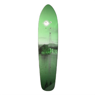 Water bridge and two suns 18.1 cm old school skateboard deck
