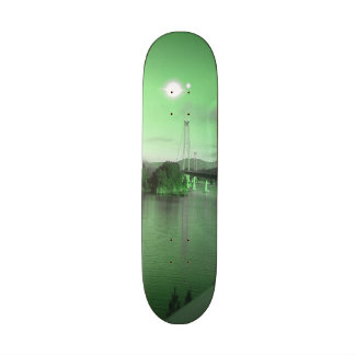 Water bridge and two suns 21.3 cm mini skateboard deck