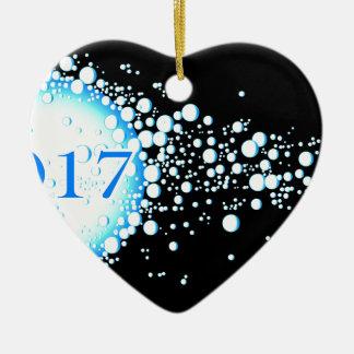 Water Bubbles 2017 Ceramic Heart Decoration