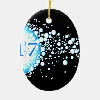 Water Bubbles 2017 Ceramic Oval Decoration