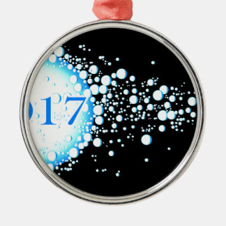 Water Bubbles 2017 Christmas Ornament