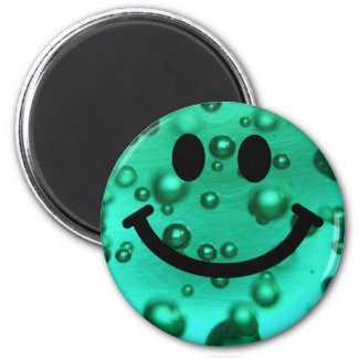 Water bubbles smiley fridge magnets