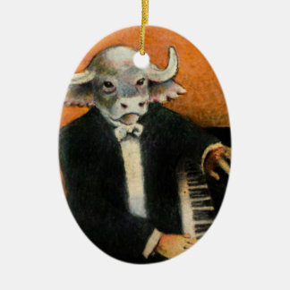 Water Buffalo Piano Player Ornament