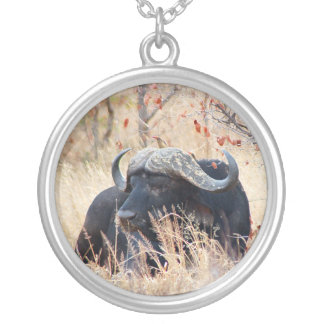 water buffalo silver plated necklace