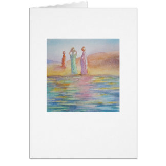 Water carriers greeting card
