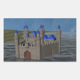 Water Castle Rectangular Sticker