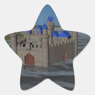 Water Castle Star Sticker