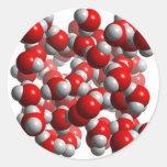 water cells classic round sticker
