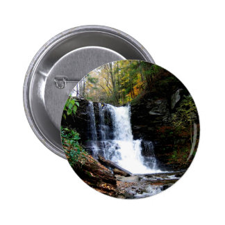 Water Cold River Falls 6 Cm Round Badge