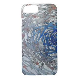 Water color and pen drawing water and plant iPhone 8/7 case