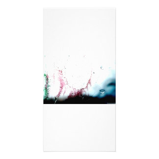 Water Color design Photo Card