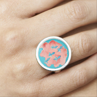 Water Color Fish Ring
