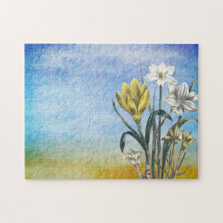 Water Color Flower Art Puzzle