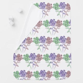 Water Color Flowers - Baby Blanket