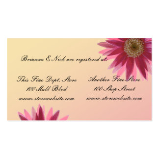 Water color fuscia daisies business card