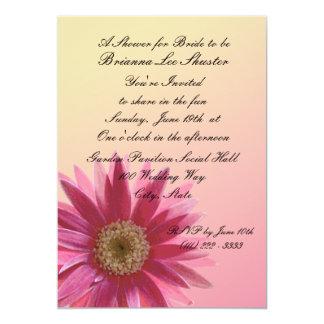 Water Color Fuscia Daisy 13 Cm X 18 Cm Invitation Card