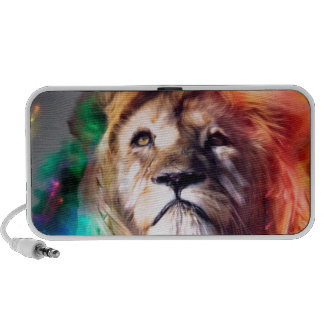 Water color lion iPhone speakers
